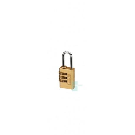 Замок навесной латунный HR-B3-20C кодовый для рюкзаков, чемоданов, сумок
