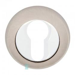 Накладка под цилиндр HISAR NR ET (804 ET) SN/CP (никель матовый/хром)